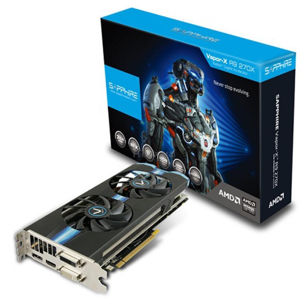 Видеокарта Sapphire Radeon R9 270X 2048Mb VAPOR-X (11217-12-21G)