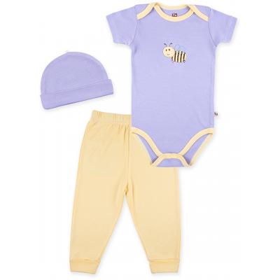 Набор детской одежды Luvable Friends из бамбука фиолетовый для девочек (68360.0-3.V)
