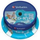 Диск CD Verbatim 700Mb 52x Cake box 25 Printable Фото