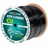 Кабель сетевой LogicPower UTP 305м cat.5e КНПсП К(4*2*0,50)[СU] сталь. прово Фото