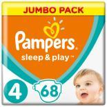 Подгузник Pampers Sleep & Play Maxi (7-14 кг), 68шт Фото
