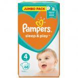 Подгузник Pampers Sleep & Play Maxi (7-14 кг), 68шт Фото 1