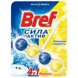 Туалетный блок Bref Сила Актив Лимонная Свежесть 50 г Фото