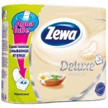 Туалетная бумага Zewa Deluxe 3-слойная Аромат СПА шампань 4 шт Фото