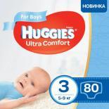 Подгузник Huggies Ultra Comfort 3 Mega для мальчиков (5-9 кг) 80 шт Фото