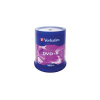 Диск DVD Verbatim 4.7Gb 16X CakeBox 100шт Фото