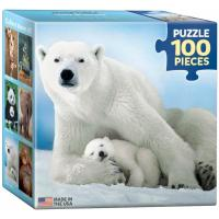 Пазл Eurographics Белая медведица с медвежонком 100 элементов Фото