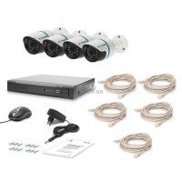 Комплект видеонаблюдения Tecsar IP 4OUT LUX Фото
