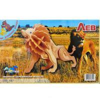 Сборная модель Мир деревянных игрушек Лев Фото
