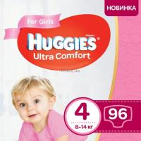 Подгузник Huggies Ultra Comfort 4 Box для девочек (7-16 кг) 96 шт Фото