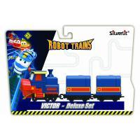 Ігровий набір Silverlit Robot Trains Паровозик с двумя вагонами Виктор Фото