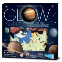 Игровой набор 4М Светящиеся наклейки Планеты и 20 звезд Фото