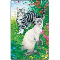 Пазл Larsen рамка-вкладыш Коты короткошерстные серия МИДИ Фото