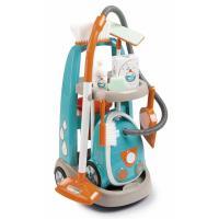 Игровой набор Smoby Тележка для прибирания с пылесосом и 9 аксессуарам Фото