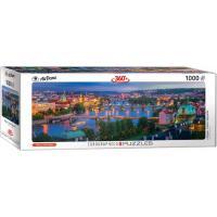 Пазл Eurographics Прага, Чехия, 1000 элементов панорамный Фото