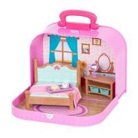 Игровой набор Li'l Woodzeez Кейс фиолетовый (Спальня) с аксессуарами Фото
