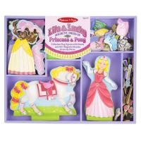 Ігровий набір Melissa&Doug Магнитная одевалка Принцесса и лошадь Фото