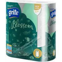 Паперові рушники Grite Blossom 2 слоя 2 рулона Фото