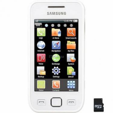 Мобільний телефон GT-S5250 (Wave525) Pearl White Samsung (GT-S5250PWJ) - фото 1