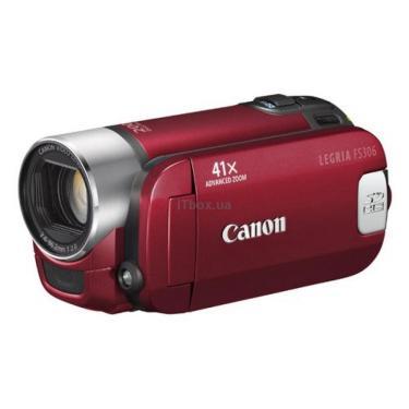 Цифрова відеокамера Legria FS306 red Canon (4404B001) - фото 1