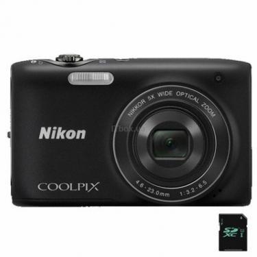 Цифровой фотоаппарат Coolpix S3100 black Nikon (VMA711E1) - фото 1