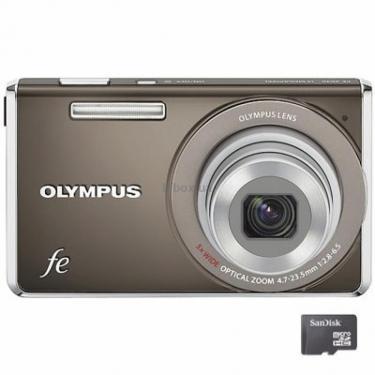 Цифровий фотоапарат FE-4030 indium grey +bag +4Gb SDHC OLYMPUS (N3832792) - фото 1