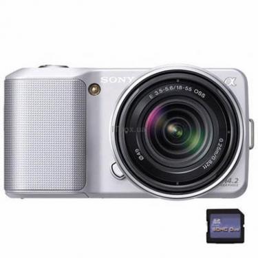Цифровой фотоаппарат NEX-3 + 16mm + 18-55mm KIT silver Sony (NEX3DS.CEE2) - фото 1
