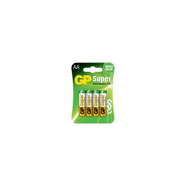 Батарейка GP AA LR6 Super Alcaline * 4 (GP15A-2UE4) - фото 1