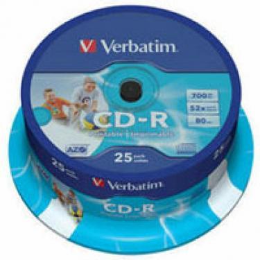 Диск CD Verbatim 700Mb 52x Cake box 25 Printable (43439) - фото 1