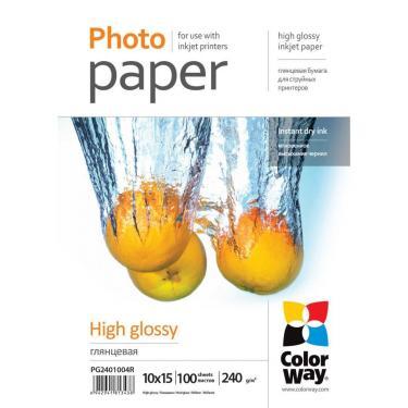 Бумага ColorWay 10x15 (ПГ240-100) (PG2401004R) - фото 1