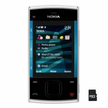 Мобільний телефон X3-00 Silver Blue Nokia (002P3K0) - фото 1