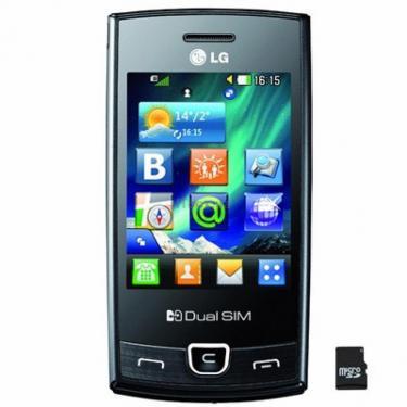 Мобильный телефон P520 Black LG (P520 BK) - фото 1