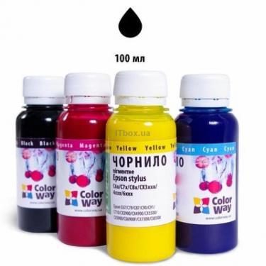 Чорнило ColorWay Epson SP T50/59 R200/270 Black pigm (EP660BK01) - фото 1