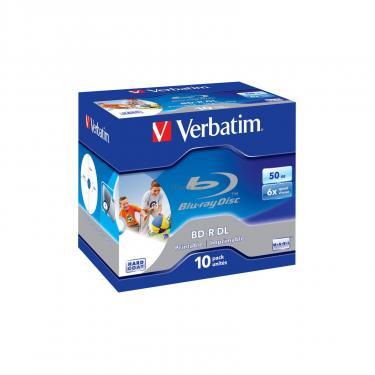 Диск BD Verbatim DL 50Gb 6x Jewel 10шт Wide Printabl (43736) - фото 1