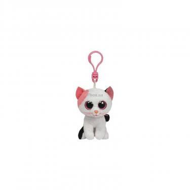 Мягкая игрушка Ty Белый кот Muffin, 12 см Фото