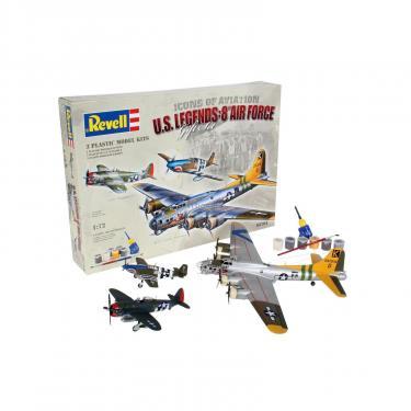 Сборная модель Revell Самолеты Flying Legends 8th USAAF (B-17G P-47D P-5 Фото 2