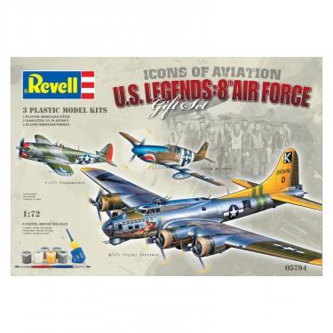 Сборная модель Revell Самолеты Flying Legends 8th USAAF (B-17G P-47D P-5 Фото