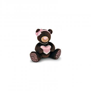Мягкая игрушка Orange Мишка Milk с сердцем сидячий 30 см Фото