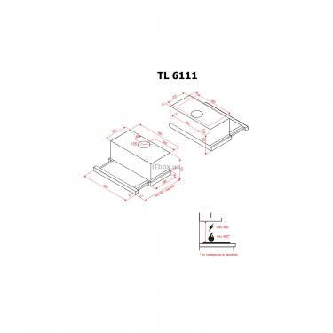 Вытяжка кухонная PERFELLI TL 6111 W - фото 5