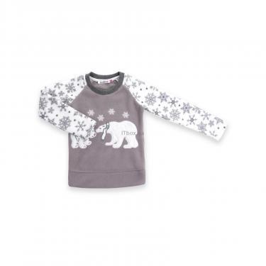 Пижама Matilda флисовая с мишками и снежинками (7161-134G-white) - фото 2