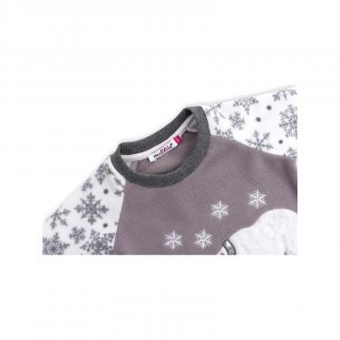 Пижама Matilda флисовая с мишками и снежинками (7161-134G-white) - фото 4