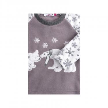 Пижама Matilda флисовая с мишками и снежинками (7161-134G-white) - фото 5
