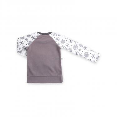 Пижама Matilda флисовая с мишками и снежинками (7161-134G-white) - фото 6