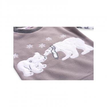 Пижама Matilda флисовая с мишками и снежинками (7161-134G-white) - фото 7