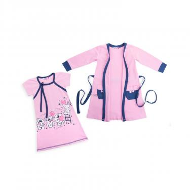 "Піжама Matilda и халат с мишками ""Love"" (7445-176G-pink) - фото 1"