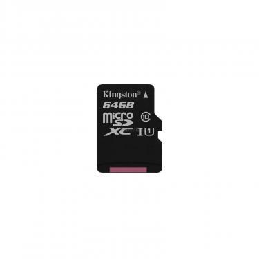 Карта пам'яті Kingston 64GB microSDXC class 10 UHS-I Canvas Select (SDCS/64GBSP) - фото 1