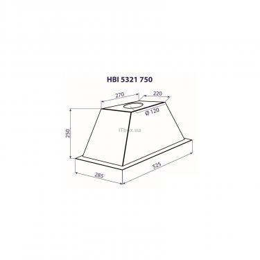 Вытяжка кухонная MINOLA HBI 5321 WH 750 - фото 4