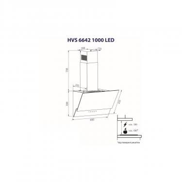 Вытяжка кухонная Minola HVS 6642 WH 1000 LED Фото 7