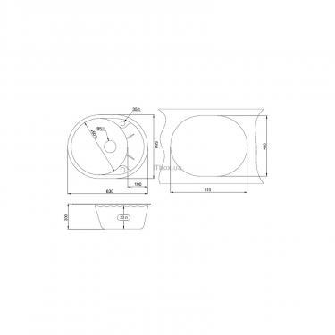 Мийка кухонна Minola MOG 1155-63 Черный - фото 2