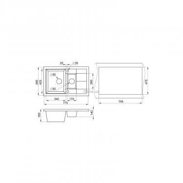 Мойка кухонная Minola MPG 5360-77 Пирит Фото 1
